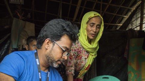 Zuiver water Bangladesh Rohingya gezin
