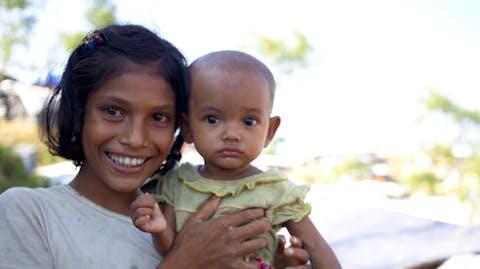 Noodhulpkit Rohingya kinderen in nood