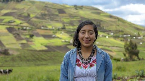 Meisje in Ecuador