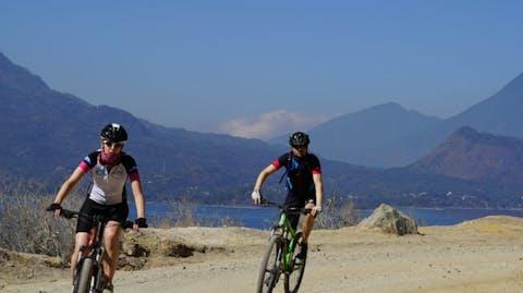 fietsers in Guatemala