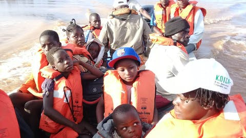 Rescue boat Mozambique