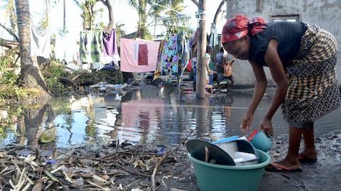 Verwoesting door overstroming Idai