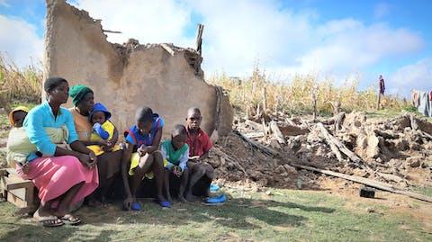 Verwoesting door overstroming orkaan Idai