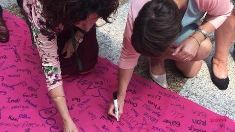 Women's March petitie gelijke lonen