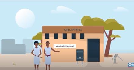 Menstrual Health and Hygiene (MHH) maakt deel uit van ons water-, sanitatie- en hygiëneprogramma (WASH)